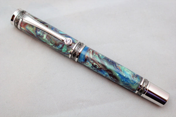 Cloudy Sky Alumilite Majestic Fountain Pen