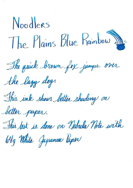 Noodlers Ink The Plain's Blue Rainbow
