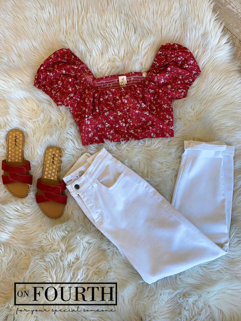 Ditsy Top (Red)