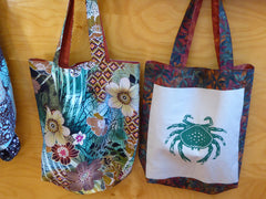 Cindy Fisher handmade reversible bags