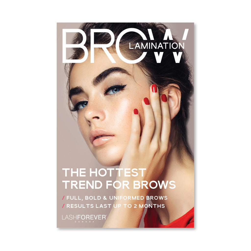Brow Lamination - 12x18 Promotional Poster
