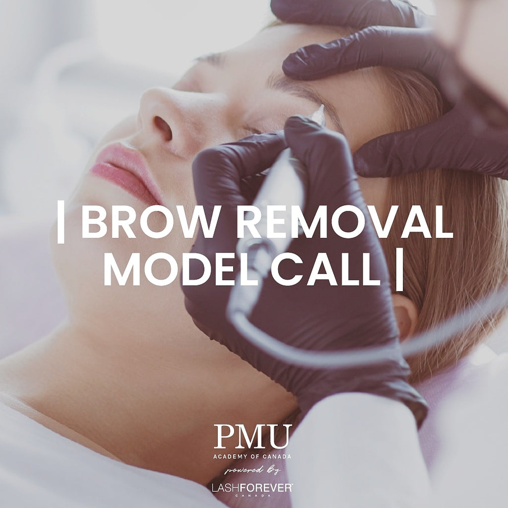 PMU Brow Removal Model Call - 1 Session - Deposit