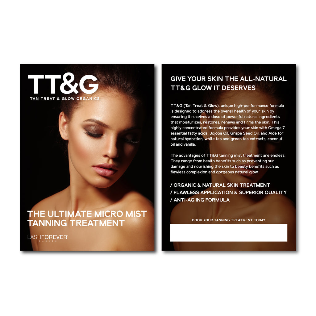 TT&G Tan, Treat & Glow(Organic Micro Mist Tan) - Postcards
