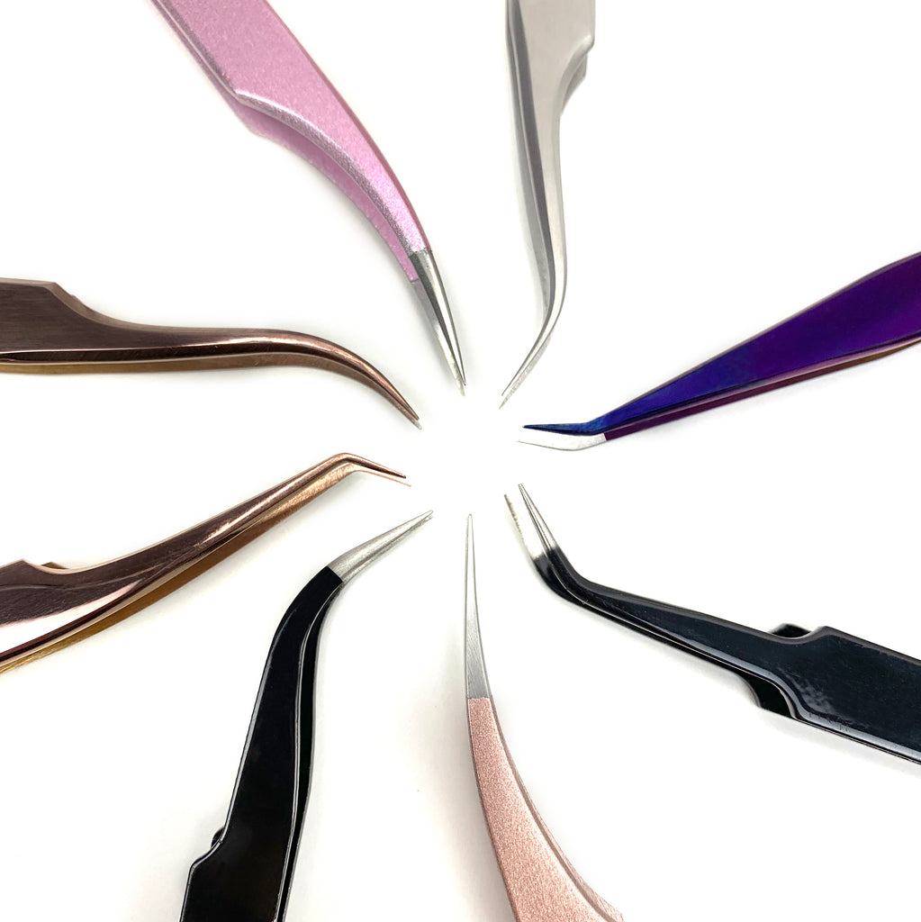 Precision Lash Extension Tweezers