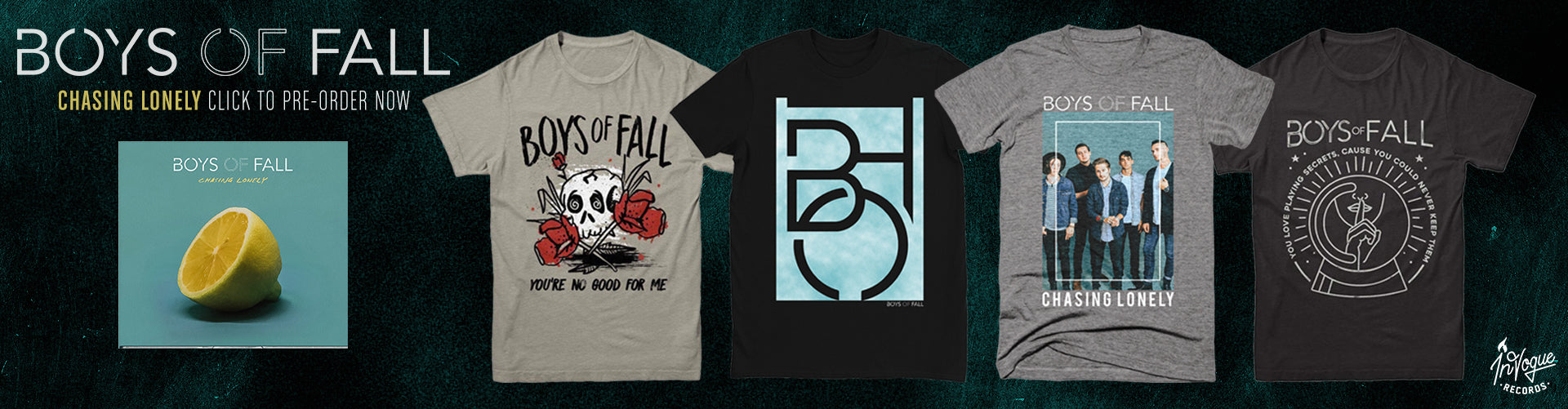 Boys of Fall pre-order collection