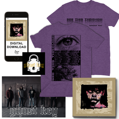 "Ghost Key Purple ""See This Through"" T-Shirt Bundle (PRE-ORDER)"