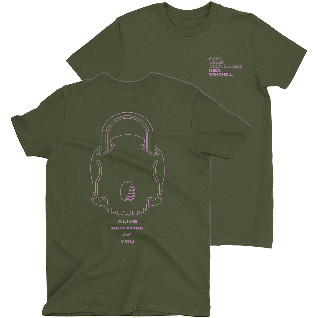 "Ghost Key Green ""See This Through"" Left Chest T-Shirt (PRE-ORDER)"
