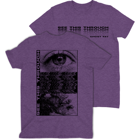 "Ghost Key Purple ""See This Through"" T-Shirt"
