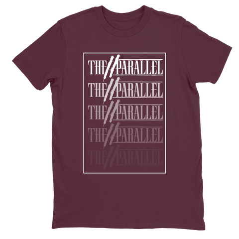 "The Parallel Maroon ""Logo Gradient"" T-Shirt (PRE-ORDER)"