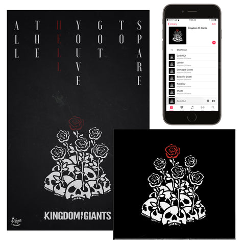 "Kingdom Of Giants ""All The Hell You've Got To Spare"" CD + Poster Bundle"