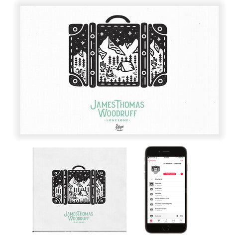 JT Woodruff CD + Poster Bundle
