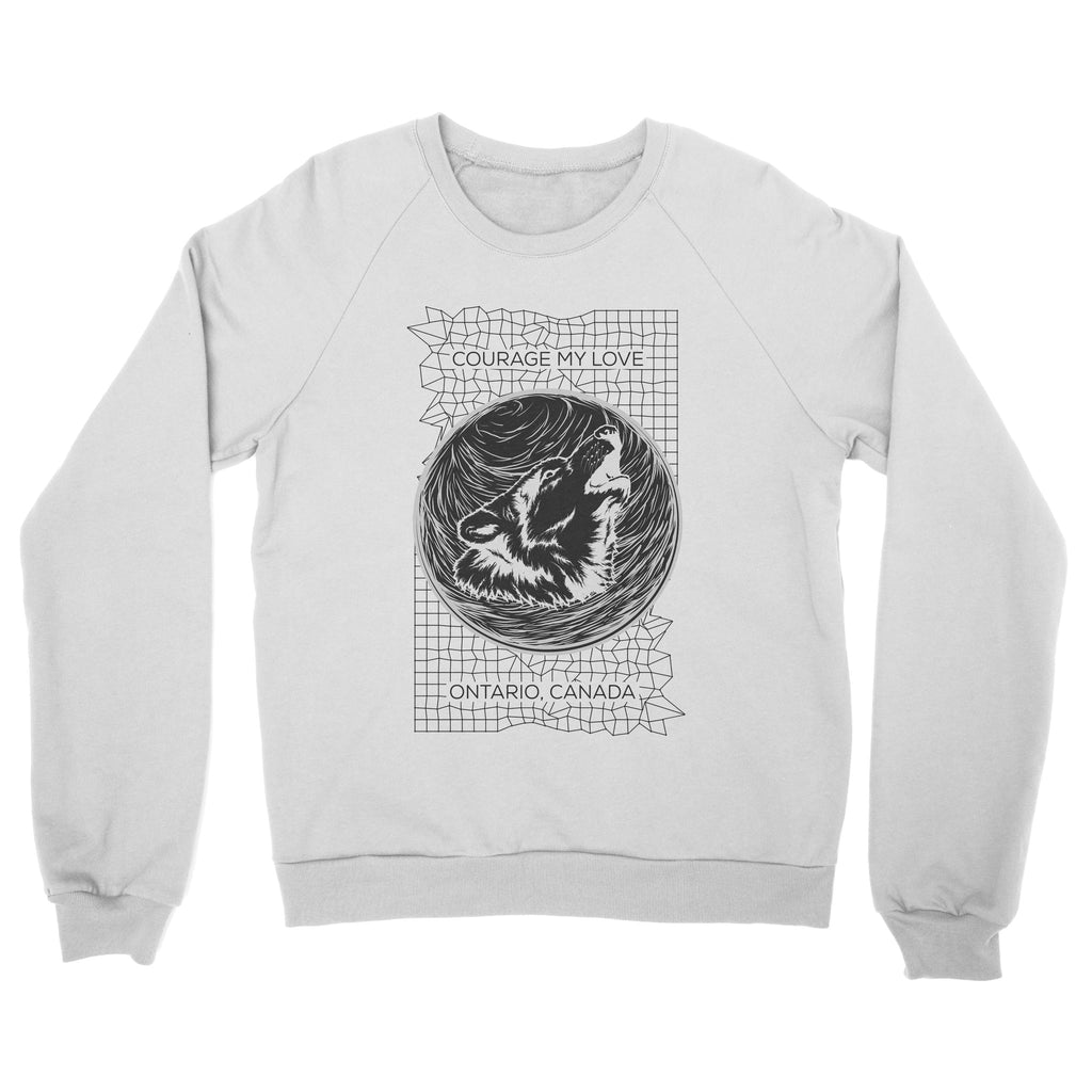 "Courage My Love ""Wolf"" Crewneck Sweatshirt"