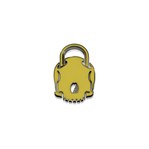 "Ghost Key ""Skull Lock"" Enamel Pin"