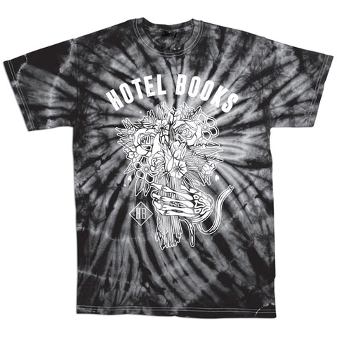 "Hotel Books ""Flower Skeleton"" Tie Dye T-Shirt"