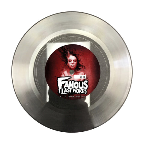 "Famous Last Words ""Pick Your Poison"" Lathe Cut Record"