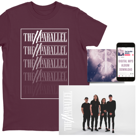 "The Parallel Maroon ""Logo Gradient"" T-Shirt Bundle"