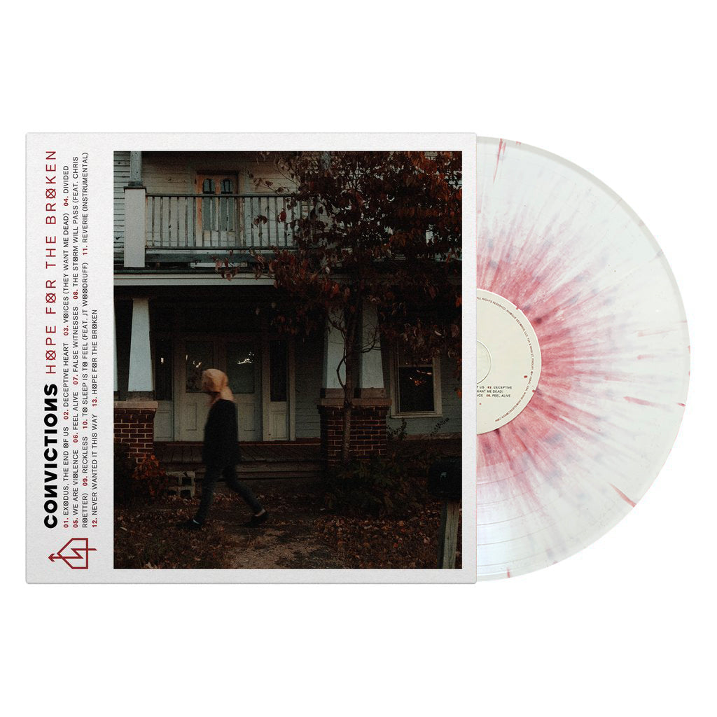 "Convictions ""Hope For The Broken"" (LP - White w/ Oxblood Splatter)"