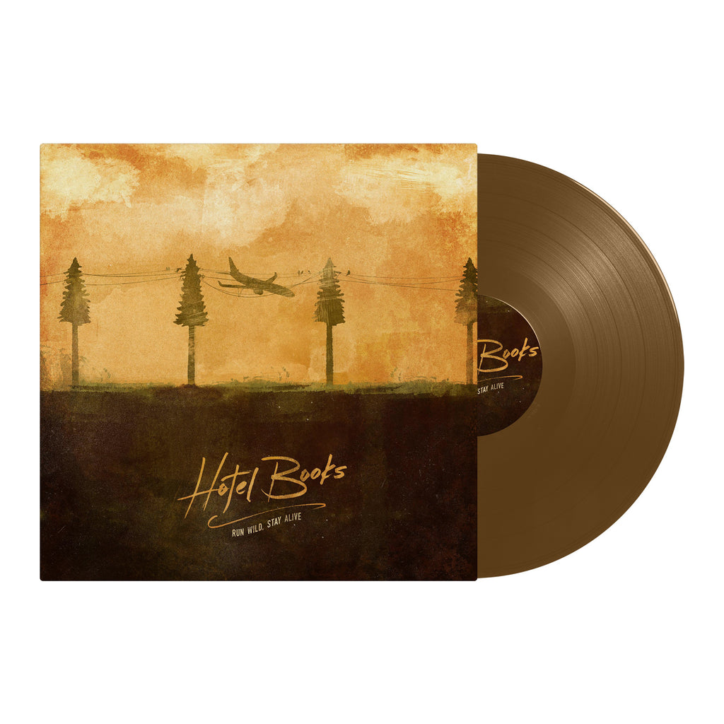 "Hotel Books ""Run Wild, Stay Alive"" Vinyl (Brown)"