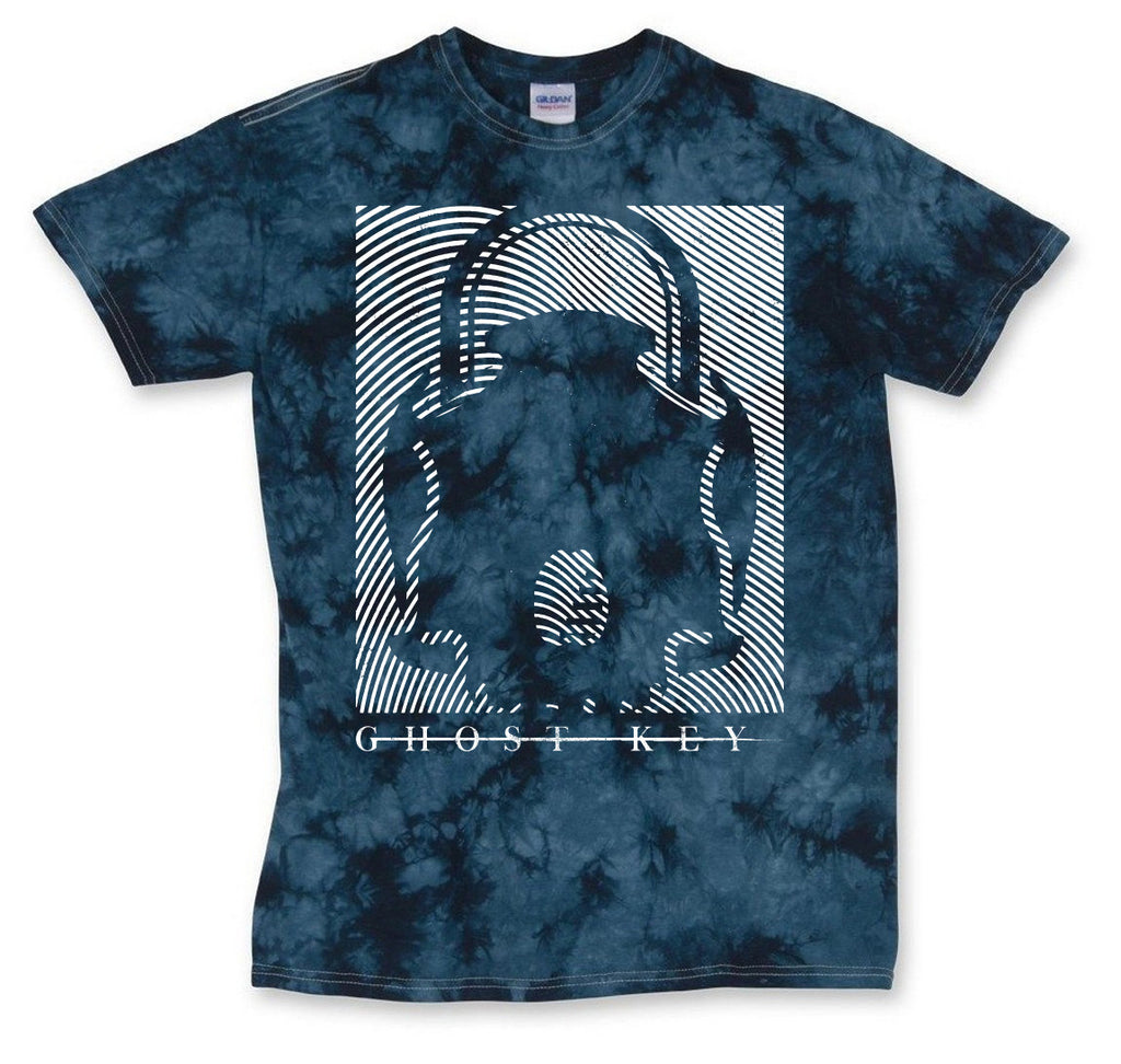"Ghost Key ""Acid Wash Navy"" T-Shirt"