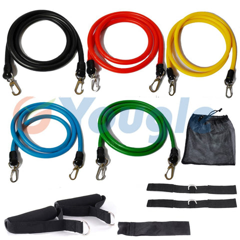 11 Pc/Set Workout Resistance Bands
