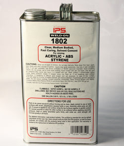 1802 CLEAR MEDIUM BODIED, FAST CURING, SOLVENT CEMENT