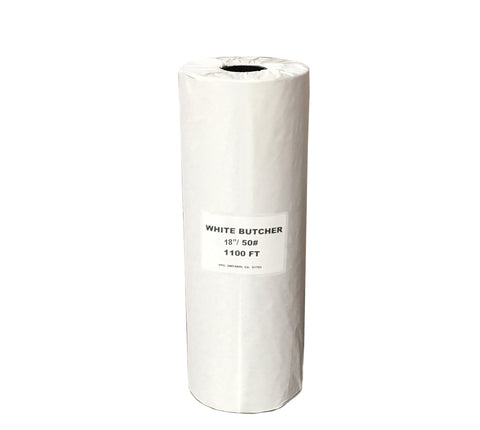 "Butcher Paper White Roll 18"" / 50# 1100 Ft"