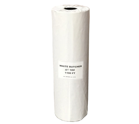 "Butcher Paper White Roll 48"" / 50# 1100 Ft"