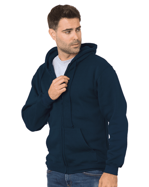 USA Made Full Zip Hooded Sweatshirt