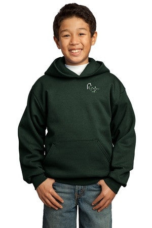Youth Pullover Hooded Sweatshirt with Webster School Logo