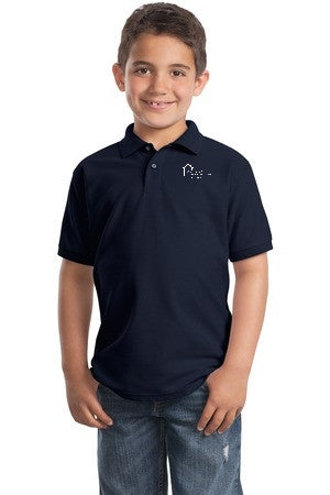 Youth Short Sleeve Polo with Prospect School Logo
