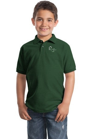 Youth Short Sleeve Polo with Webster School Logo