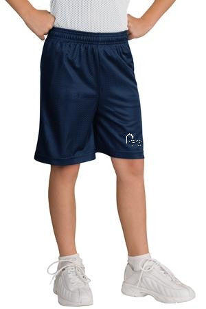 Youth PosiCharge® Classic Mesh Short with CDCPS Logo