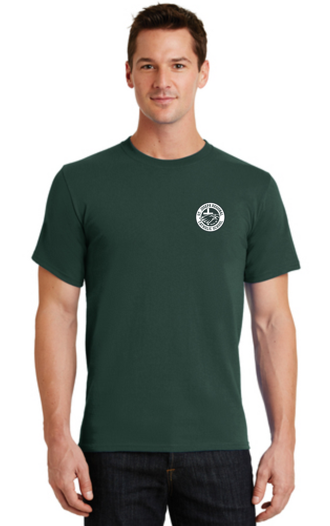 Adult Short Sleeve T-Shirt with SJRCS School Logo