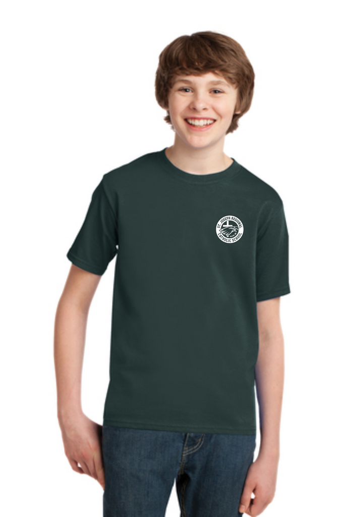 Youth Short Sleeve T-Shirt with SJRCS School Logo