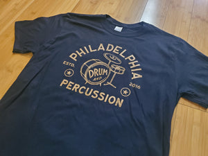 "Apparel - Philadelphia Drum & Percussion ""Vintage Drum Set"" Tee"