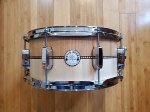 "Snares - Solid Drums Switzerland 6.5x14 ""Two Tone"" Cherry/Maple Snare Drum"