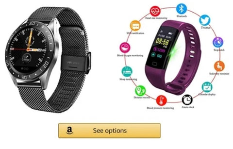 Lige smart watch waterproof digital led strap for men and women