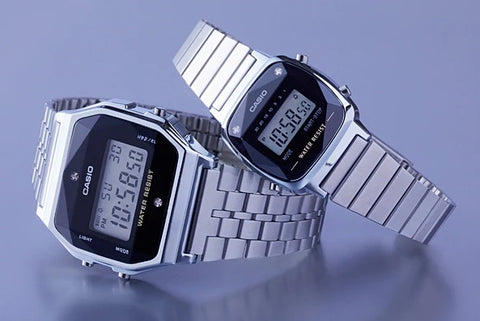 Reloj casio retro con diamantes