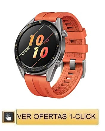 reloj Huawei Watch GT, Bluetooth SmartWatch, Ultra-Thin, agua, Compatible con iPhone y Android -Titanium