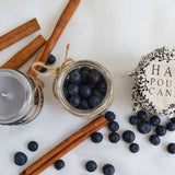 Hand Poured Candle 'Blueberry and Vanilla' by Anna Palamar Designs