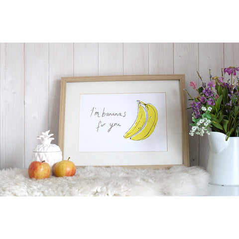 Bananas For You Screen Print by Joanna Prints