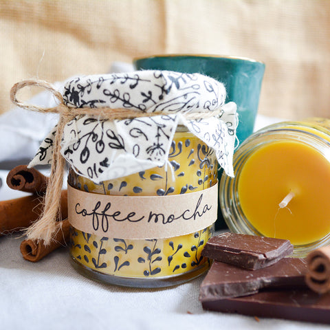 Hand Poured Candle 'Coffee Mocha' by Anna Palamar Designs