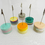Coloured Concrete Clip Holders by Molcrete