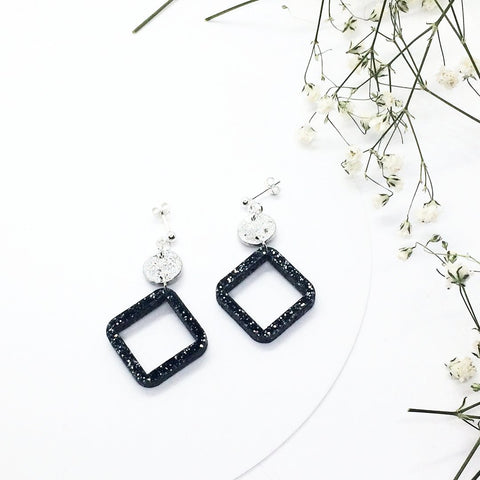 Tiny Moon & Open Starry Night Earrings