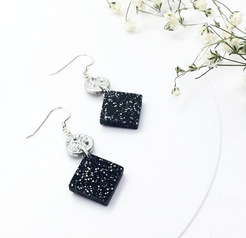 Tiny Moon & Starry Night Earrings