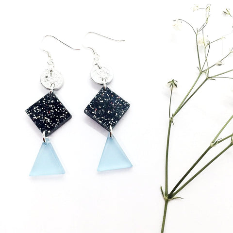 Diamond Starry Night Statement Earrings
