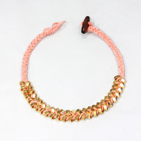Sarah-Lily Necklace - Salmon