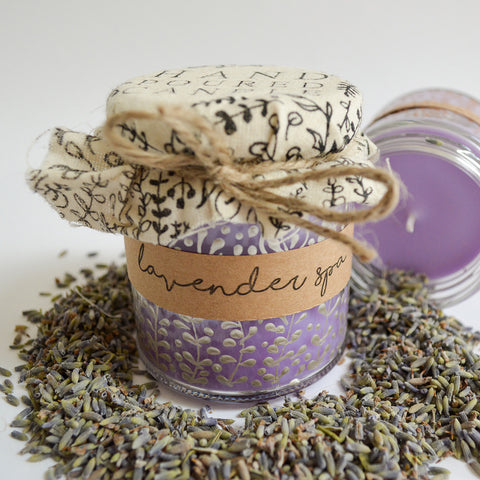 Hand Poured Candle 'Lavender Spa' by Anna Palamar Designs