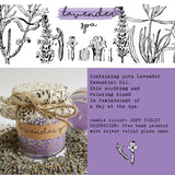 Hand Poured Candle 'Lavender Spa' with ingredients by Anna Palamar Designs
