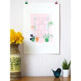 Lazy Sunday Screen Print by Joanna Prints